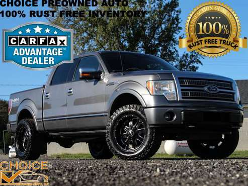 L👀K 2010 FORD F150 PLATINUM CREW CAB 4X4 SITTIN ON 35s #FULLYLOADED for sale in KERNERSVILLE, NC