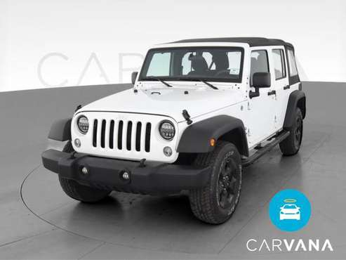 2017 Jeep Wrangler Unlimited Sport SUV 4D suv White - FINANCE ONLINE... for sale in Chesapeake , VA