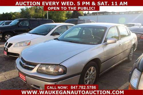 2003 *CHEVROLET/CHEVY* *IMPALA* 3.4L V6 75K GOOD TIRES CD 230441 for sale in WAUKEGAN, WI