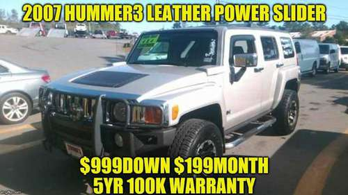 2007 HUMMER 3*LEATHER *POWER SLIDER *LOW MILES for sale in Rowley, MA