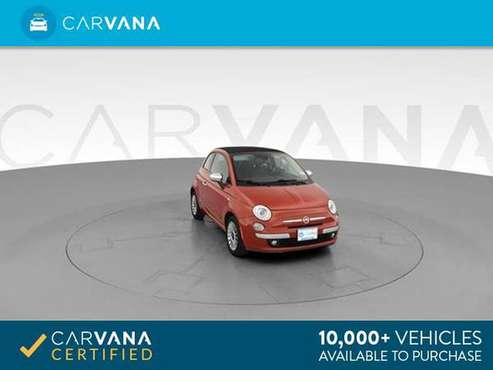 2012 FIAT 500 500C Lounge Convertible 2D Convertible RED - FINANCE for sale in Atlanta, GA