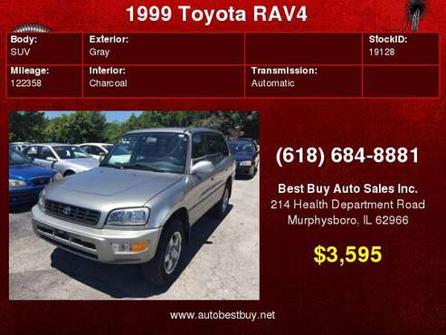 1999 Toyota RAV4 Base AWD 4dr SUV Call for Steve or Dean for sale in Murphysboro, IL