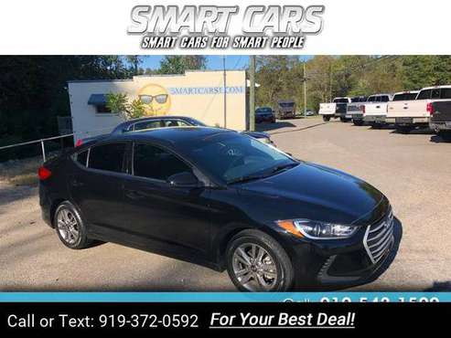 2018 Hyundai Elantra SEL sedan Black for sale in Pittsboro, NC