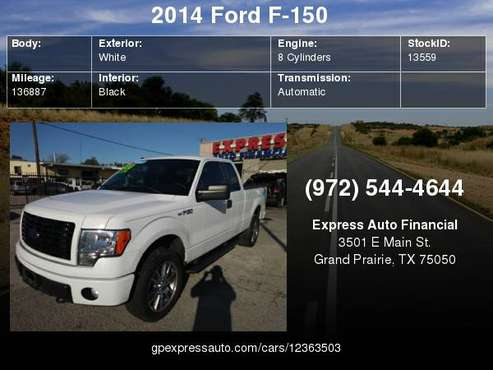 2014 Ford F-150 4WD SuperCab-Downpayment for sale in Grand Prairie, TX
