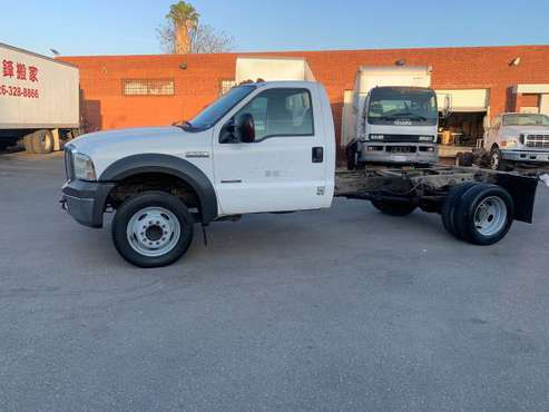 2005 Ford F550 diesel cab and chassis truck runs great - cars &... for sale in El Monte, CA