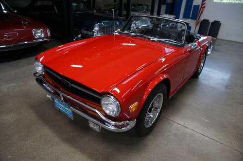 1972 Triumph TR6 Roadster with vintage Judson Supercharger Stock# 096 for sale in Torrance, CA