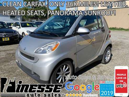 2008 SMART FORTWO PASSION COUPE, CLEAN CARFAX! ONLY 36K MILES! for sale in Seattle, WA