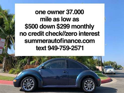 low 37.000 mile 4cyl gas saver 28 mile per gallon Volkswagen beetle / for sale in Costa Mesa, CA