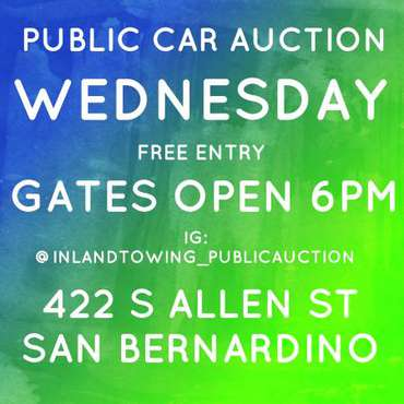 The Best Public Auction Wednesday 6pm 422 S Allen st San Bernardino for sale in San Bernardino, CA