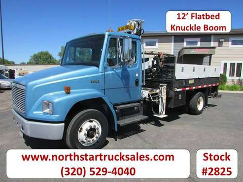 1998 Freightliner FL70 CAT Flatbed with Knuckle Boom for sale in ST Cloud, MN