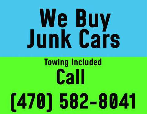 Sell Your Junk Car Now! for sale in Marietta, GA