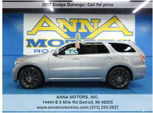 2017 DODGE DURANGO R/T AWD,PAYMENT STARTING@$399*MONTHLY-STOP BY TODAY for sale in Detroit, MI