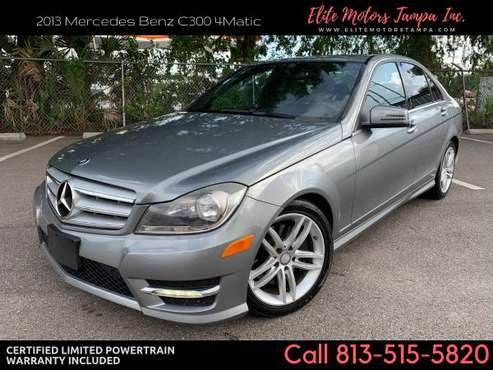 2013 Mercedes Benz C300 C 300 4Matic *** 59k *** w/ Warranty for sale in TAMPA, FL
