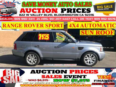 2008 RANGE ROVER SPORT>FULLY LOADED>CALL 24HR for sale in BLOOMINGTON, CA
