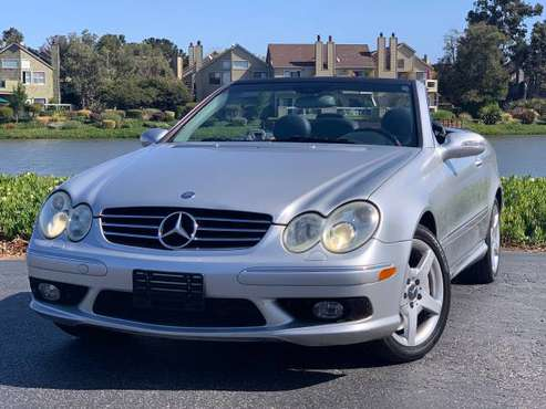 2005 MERCEDES BENZ CLK500 / CLEAN CARFAX / CONVERTIBLE TOP / for sale in San Mateo, CA