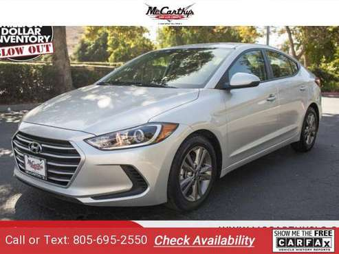 2018 Hyundai Elantra SEL sedan Symphony Silver for sale in San Luis Obispo, CA