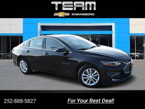 2017 Chevy Chevrolet Malibu LT sedan Black for sale in Swansboro, NC