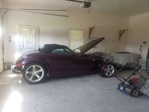 1999 PLYMOUTH PROWLER. 1 OWNER WITH TRAILER ONLY 14K MILES. for sale in leominster, MA