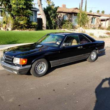 1984 Mercedes benz 500 Sec Coupe W126 Euro model Low milesc for sale in North Hollywood, CA