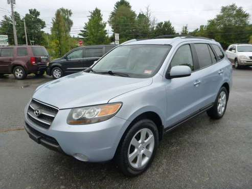 2007 HYUNDAI SANTA FE LIMITED AWD ONE OWNER VERY 3RD ROW 7 PASS LOADED for sale in Milford, ME