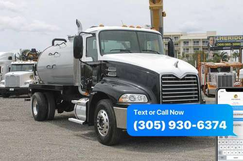 2009 Mack Pinnacle 2,650 Gallon Septic Truck For Sale *WE FINANCE BAD for sale in Miami, FL