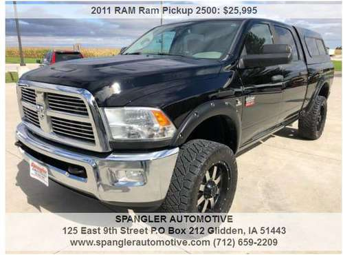 2011 RAM 2500HD BIG HORN*CREW CAB*6.7 DIESEL*REMOTE START*TOPPER*SHARP for sale in Glidden, IA
