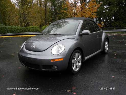 2006 VOLKSWAGEN NEW BEETLE CONVERTIBLE ....... LOW MILES ..... for sale in Kirkland, WA