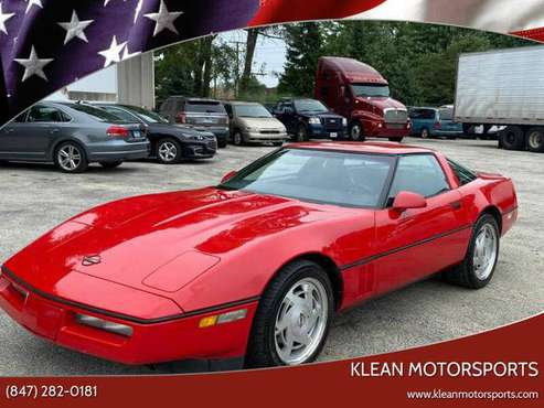 1988 CHEVROLET CORVETTE 95K LEATHER ALLOY GOOD TIRES 108055 - cars &... for sale in SKOKIE, IL, IL