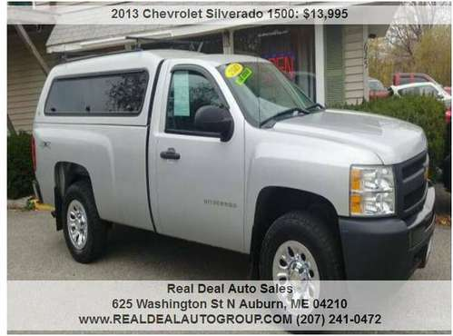 2013 CHEVY SILVERADO 4X4! ONE OWNER! LONG BOX! XX CLEAN!!! for sale in Auburn, ME