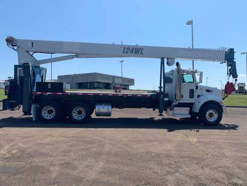 2008 Peterbilt 340 w/ Manitex 30124WL Crane boom truck $125k for sale in Jasper, TX