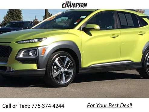 2019 Hyundai Kona Ultimate suv Green - cars & trucks - by dealer -... for sale in Reno, NV