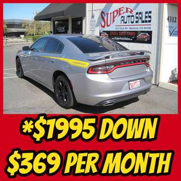 *$1995 Down & *$369 Per Month on this 2015 DODGE CHARGER SE! for sale in Modesto, CA