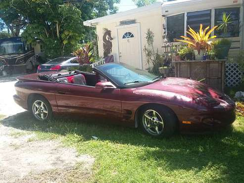 2001 Firebird convertable for sale in Key Largo, FL