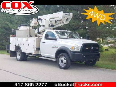 2013 RAM 5500 Versalift VST-40-I 4WD Bucket Truck ~ w/Material Handler for sale in Springfield, MO