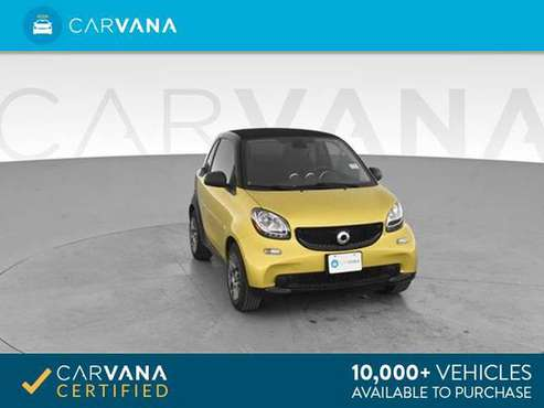 2017 smart fortwo Proxy Hatchback Coupe 2D coupe Yellow - FINANCE for sale in Atlanta, FL