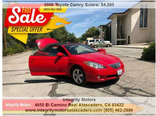 2006 Toyota Camry Solara SE V6 2dr Convertible 188024 Miles for sale in Atascadero, CA