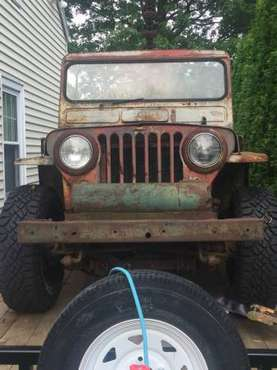 1952 Willys CJ3A Auburn Jeep-a-Trench Trencher Jeep for sale in Canton, OH