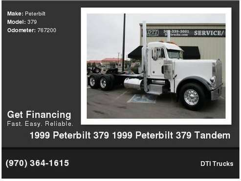 1999 Peterbilt 379 Tandem Axle Day Cab With Wet Kit CAT 3406E 15L for sale in Wheat Ridge, CO