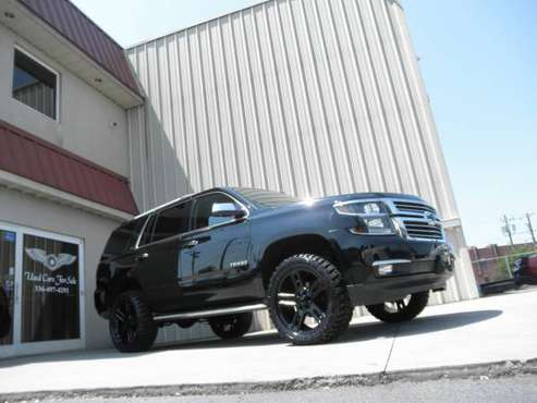 "2 OWNER LIFTED 2015 TAHOE LTZ 4X4 LO@DED UP CAPTAIN'S NEW 22"" ALLOYS for sale in KERNERSVILLE, NC"