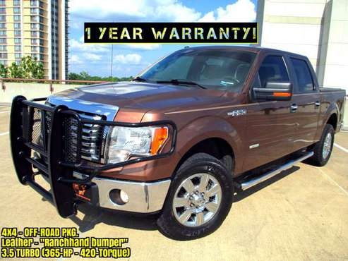 (1 YEAR WARRANTY) Ford F150 4x4 365-HP TURBO (Leather) 21-MPG 1500 for sale in Springfield, MO