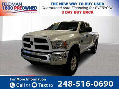 2015 *Ram* *2500* Outdoorsman pickup Bright White Clearcoat for sale in Waterford Township, MI