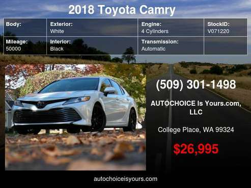2018 Toyota Camry Hybrid XLE CVT - cars & trucks - by dealer -... for sale in College Place, OR