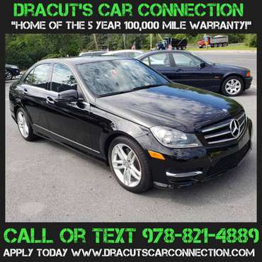 14 Mercedes Benz C300 4Matic BLACK on BLACK 5YR/100K WARRANTY INCLUDED for sale in METHUEN, ME