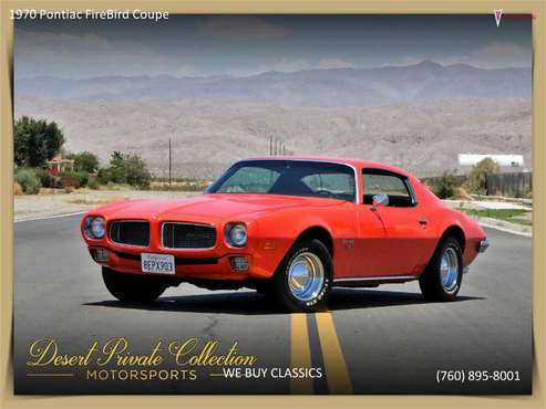 1970 Pontiac Firebird for sale in Palm Desert , CA