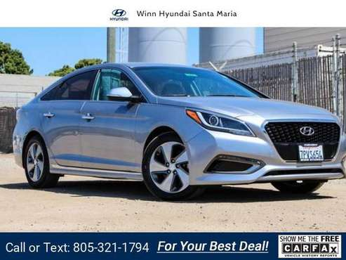 2016 Hyundai Sonata Hybrid Limited sedan pewter gray metallic for sale in Santa Maria, CA