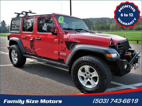 2018 Jeep Wrangler Unlimited Sport 4x4 - cars & trucks - by dealer -... for sale in Gladstone, OR
