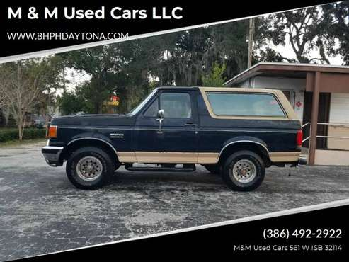 1990 Ford Bronco Eddie Bauer 4WD (Clean Carfax) - $4495 Cash - cars... for sale in Daytona Beach, FL