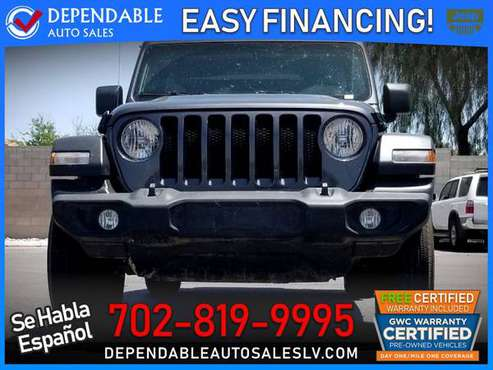 2019 Jeep *Wrangler* *Unlimited* *Sport* -- $618 /mo or $35,995 for sale in Las Vegas, AZ