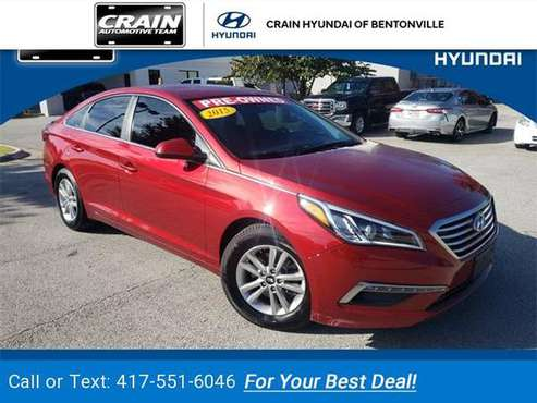 2015 Hyundai Sonata SE sedan Red for sale in Bentonville, AR