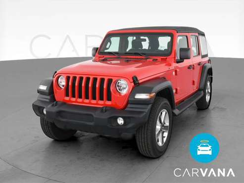2020 Jeep Wrangler Unlimited Sport S Sport Utility 4D suv Red - -... for sale in Atlanta, CA